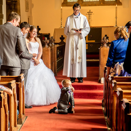 The little ring bearer tries to steal the show! - Northampton Wedding Photographer
