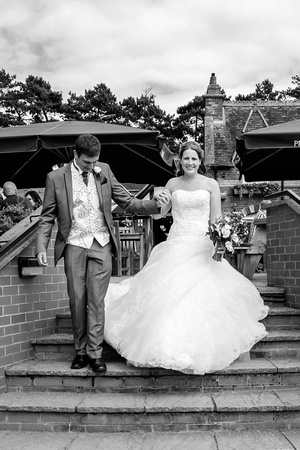 Going for a stroll at The Brampton Halt - Northampton Wedding Photographer