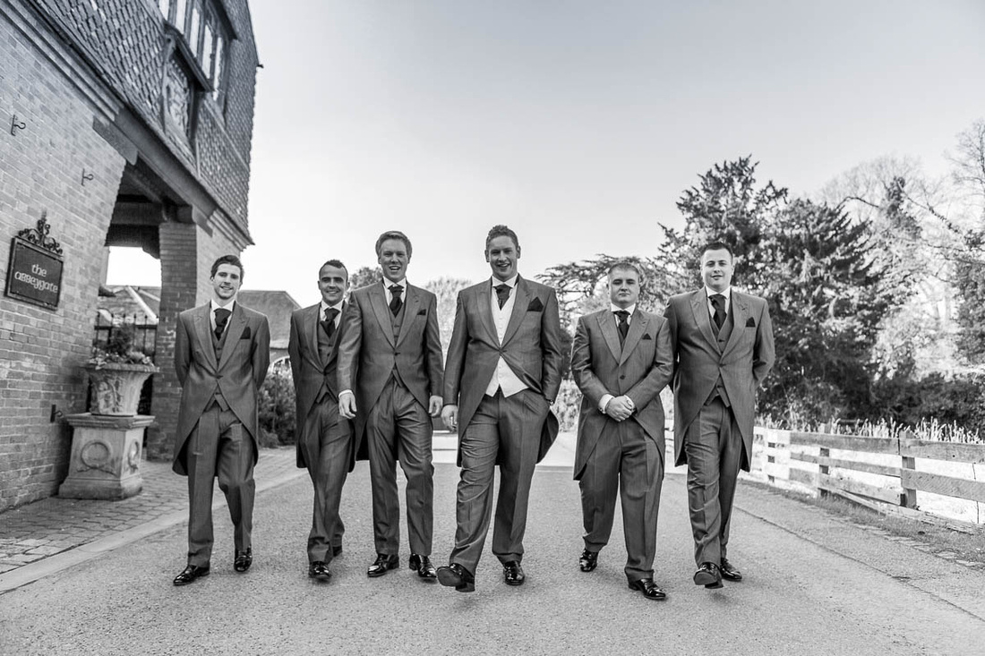 East Midlands wedding photographer: Wedding preparations: Andy and his groomsmen at Coombe Abbey