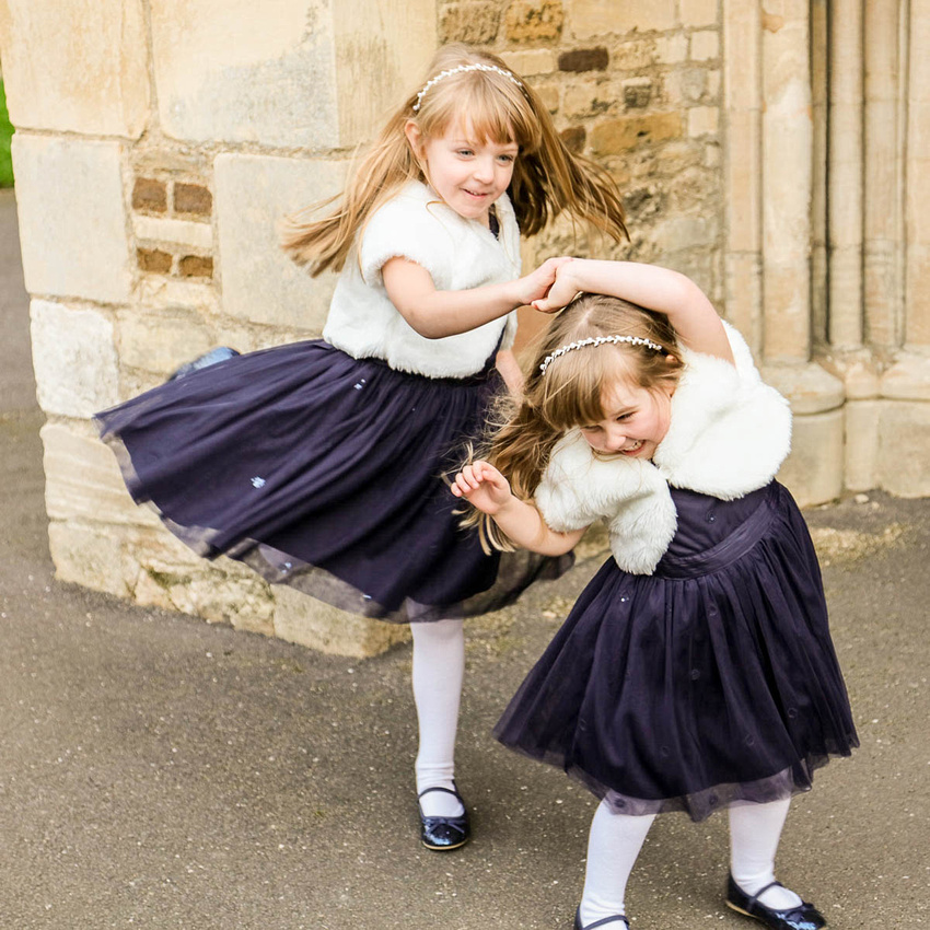 Bedfordshire Wedding Photographer: I Love This Photo: Little Bridesmaids Find The Fun