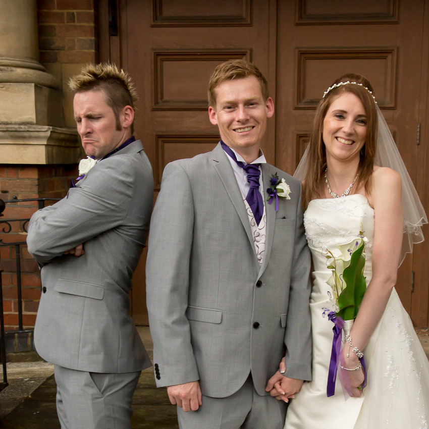 Northamptonshire wedding photographer: I Love This Photo: The Best Man Makes A Point