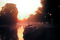 Misty dawn over the River Cam