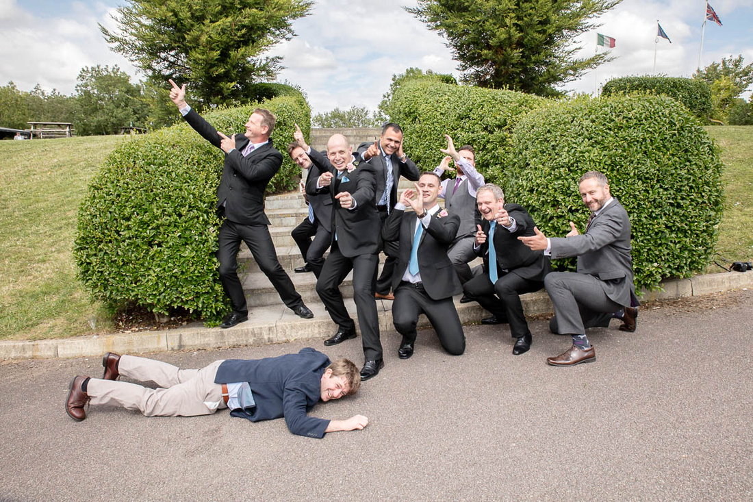 Bedfordshire Wedding Photographer: I Love This Photo: Crazy Stag Do group photo