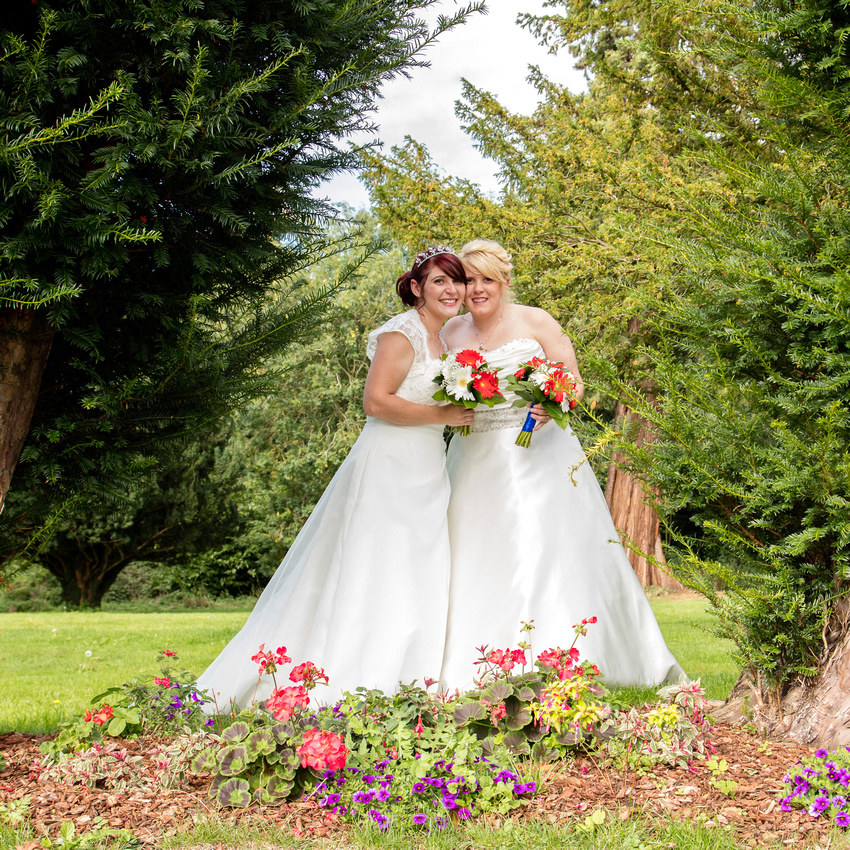 Corby-Kettering Wedding Photographer: Christine and Victoria's wedding at Barton Hall Hotel and Corby Masonic