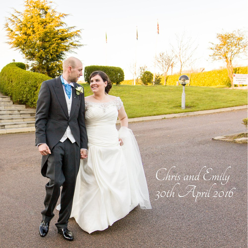 Wedding Album Design: Chris and Emily at The Sharnbrook