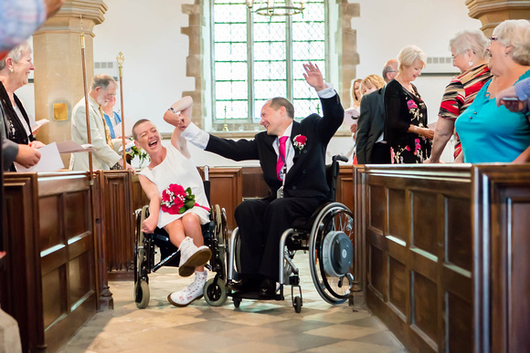 Northamptonshire Wedding Photographer: Lee and Louise celebrate getting married at St John the Baptist, Corby