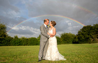Bedford Wedding Photographer: James and Ruth's special rainbow wedding photo in Felmersham, Bedford
