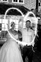 Leicestershire Wedding Photographer: Gaz and Gemma loving their sparklers at Quorn Grange Hotel, Leicester