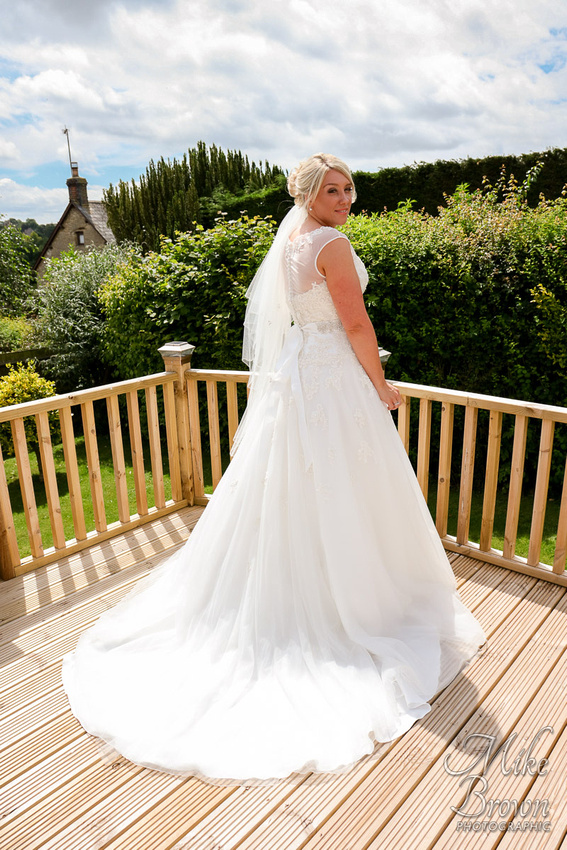 Northampton Marriott Wedding Photographer: Wedding dress with lace shoulders